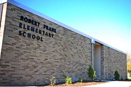 Exterior photo of Frank Elementary School building