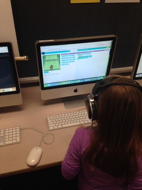 2nd Graders participating in the Hour of Code!