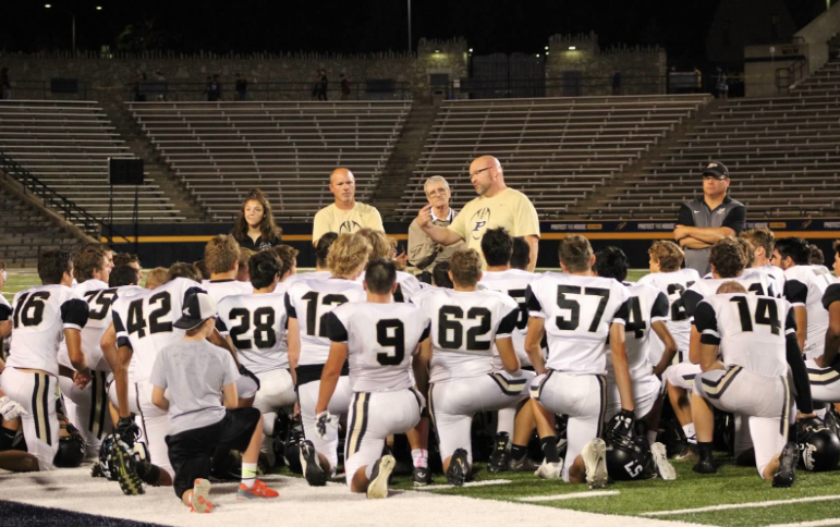 PHS football team post game speech