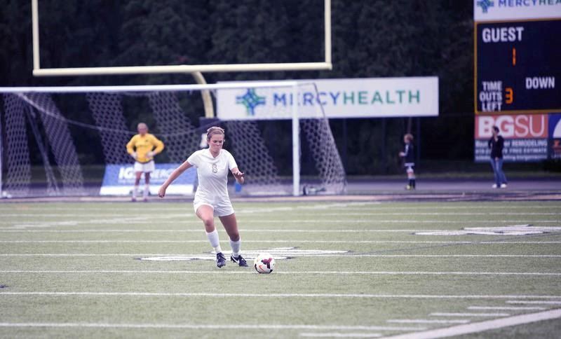 PHS student athlete playing soccer