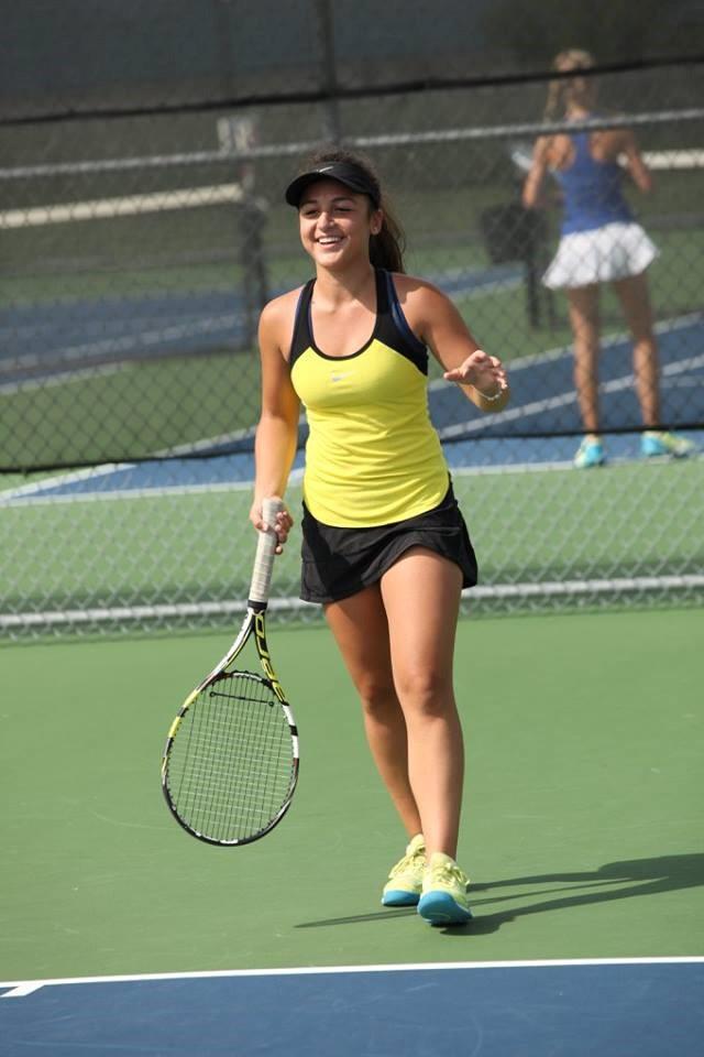 PHS student athlete playing tennis
