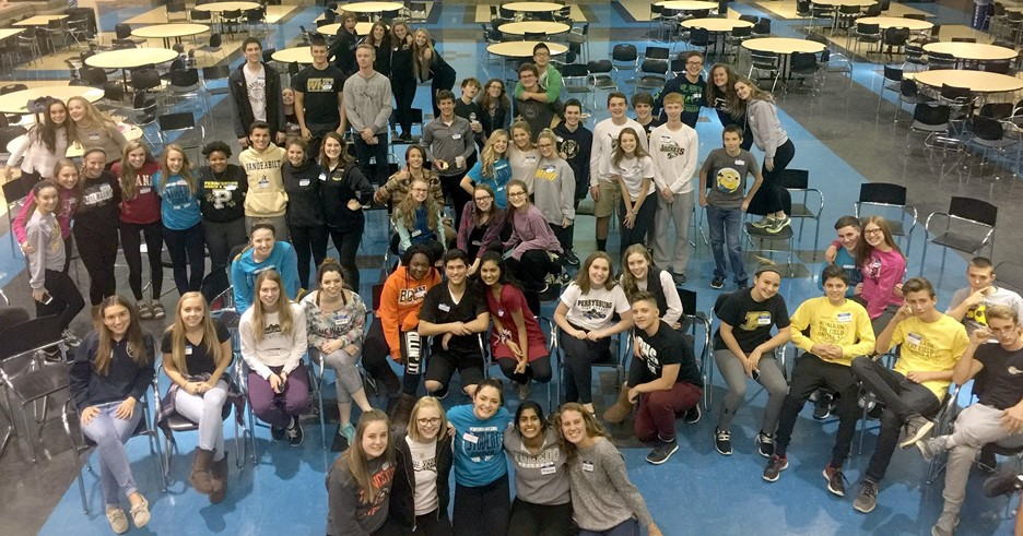 PHS Student Council recently gathered for their first lock-in