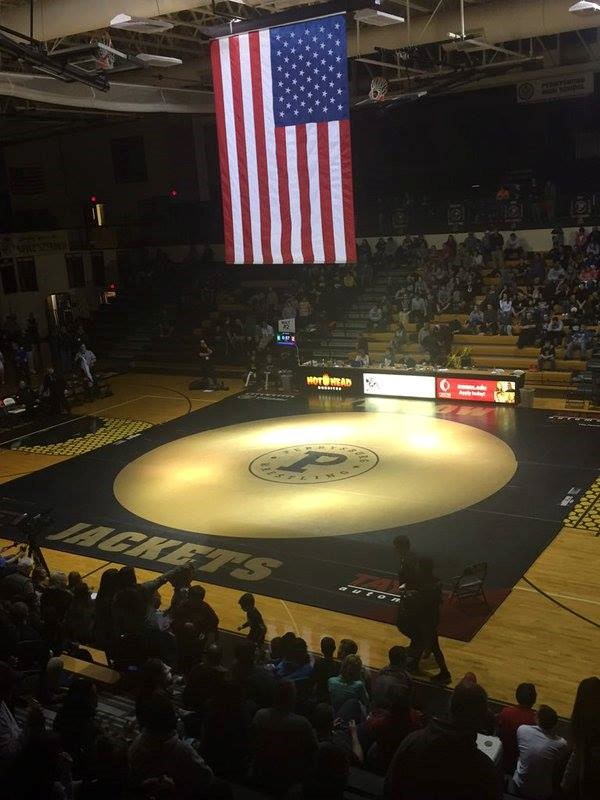 PHS gym during a wrestling tournament
