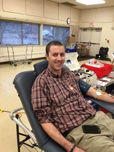 Thanks, Mr. Evans, for donating blood!:)