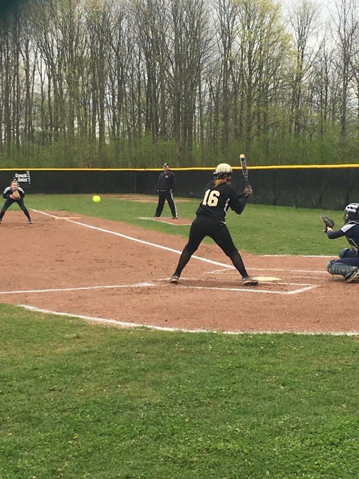 PHS student athlete hitting a softball