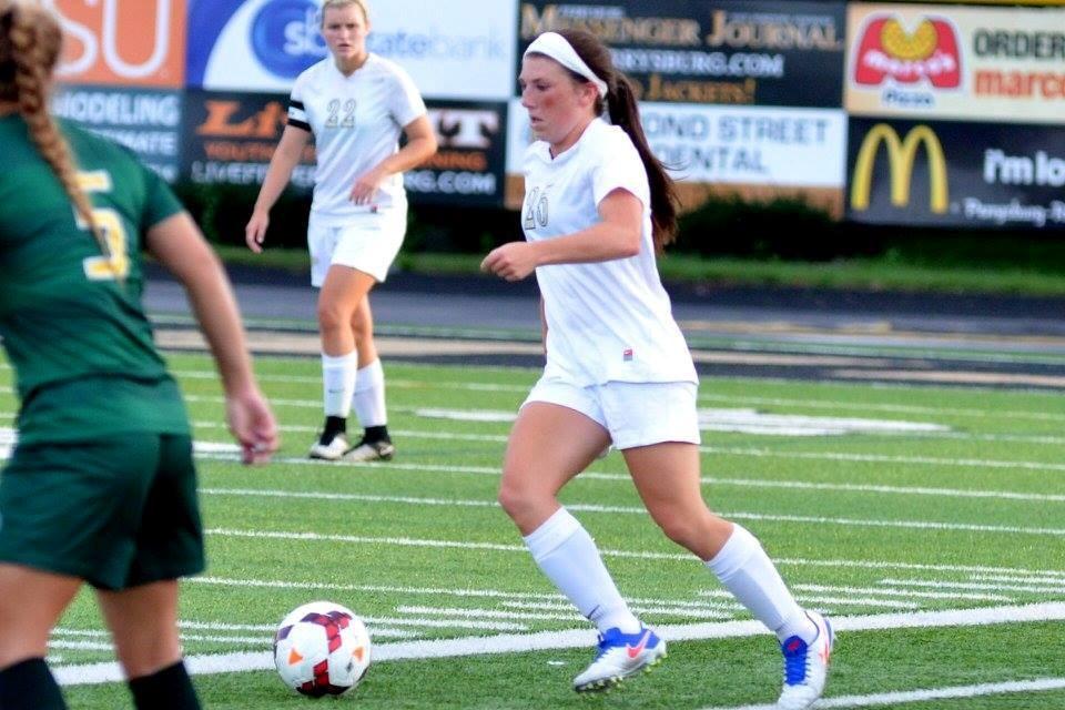 PHS soccer player handling a soccer ball