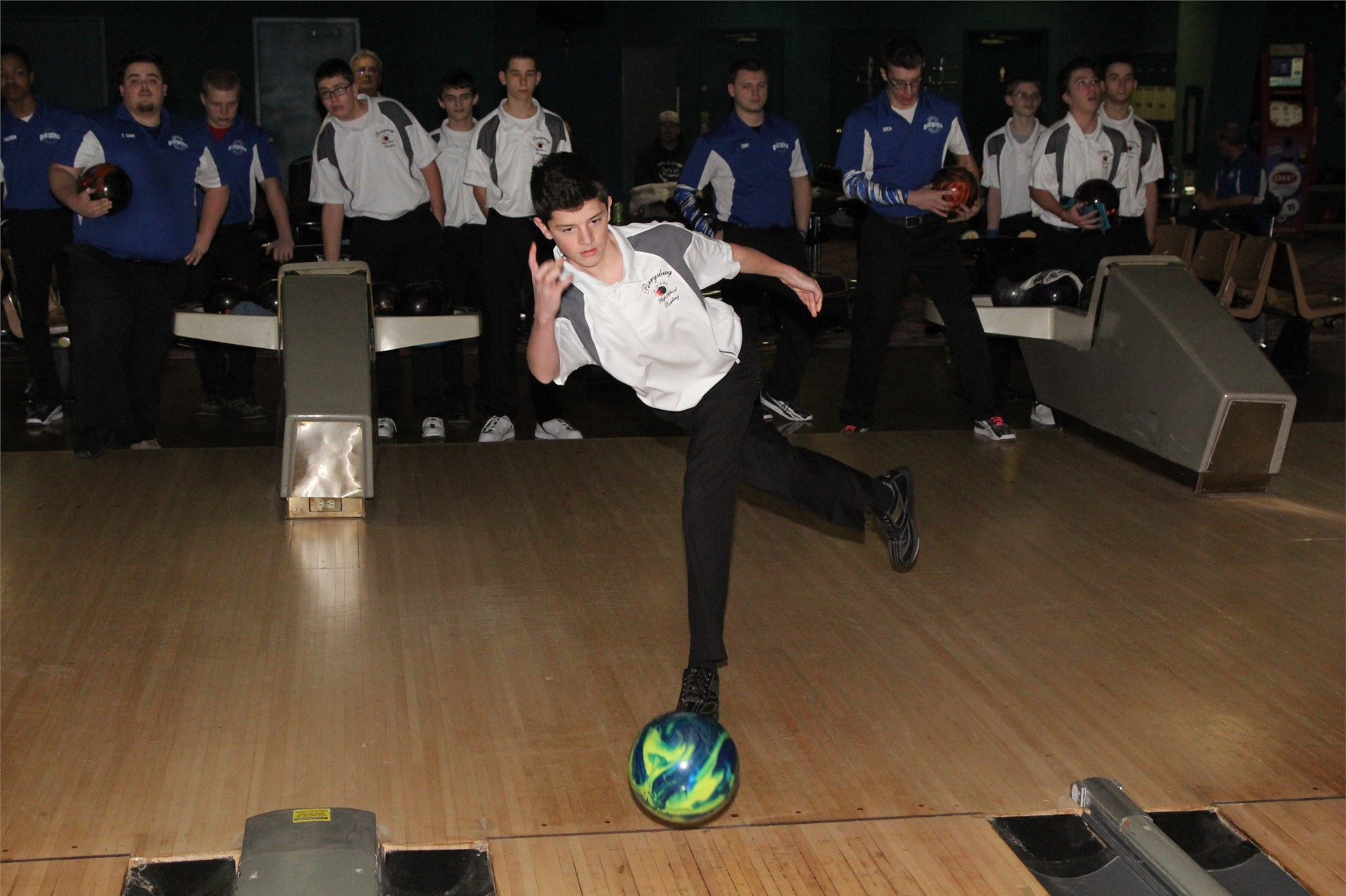 PHS student athlete bowling at a competition