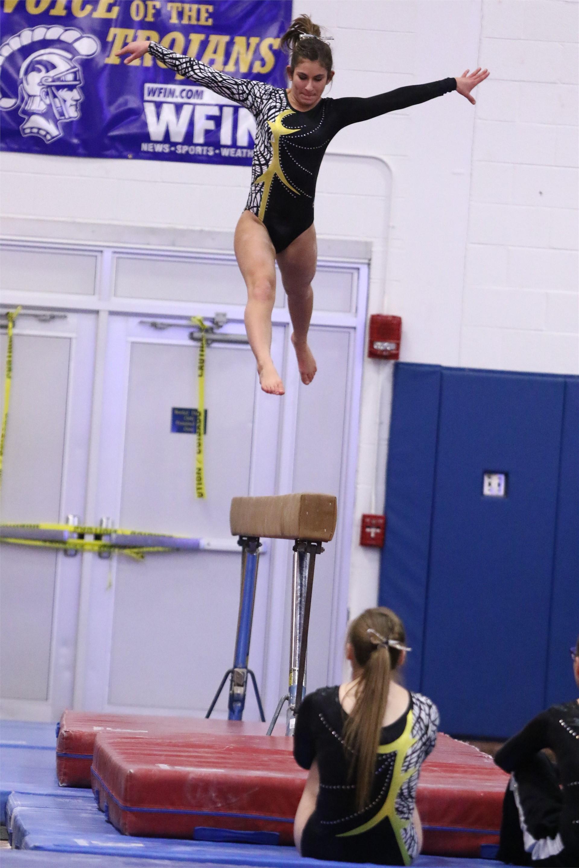 PHS student athlete performing gymnastics