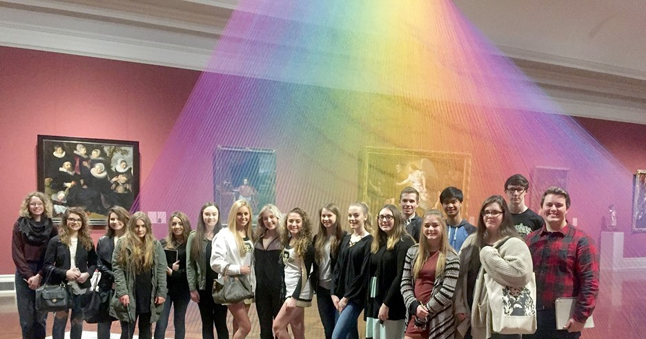 AP Art History class recently visited Toledo Museum of Art