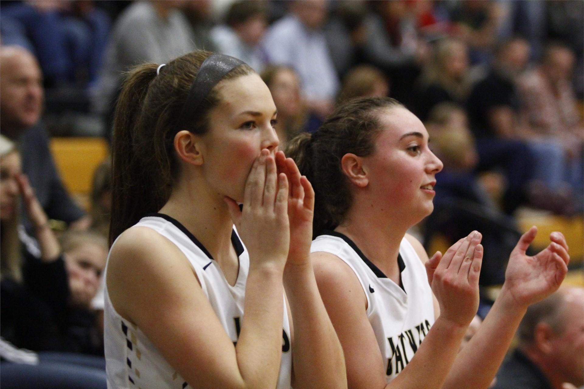 PHS student athletes cheering on their teammates
