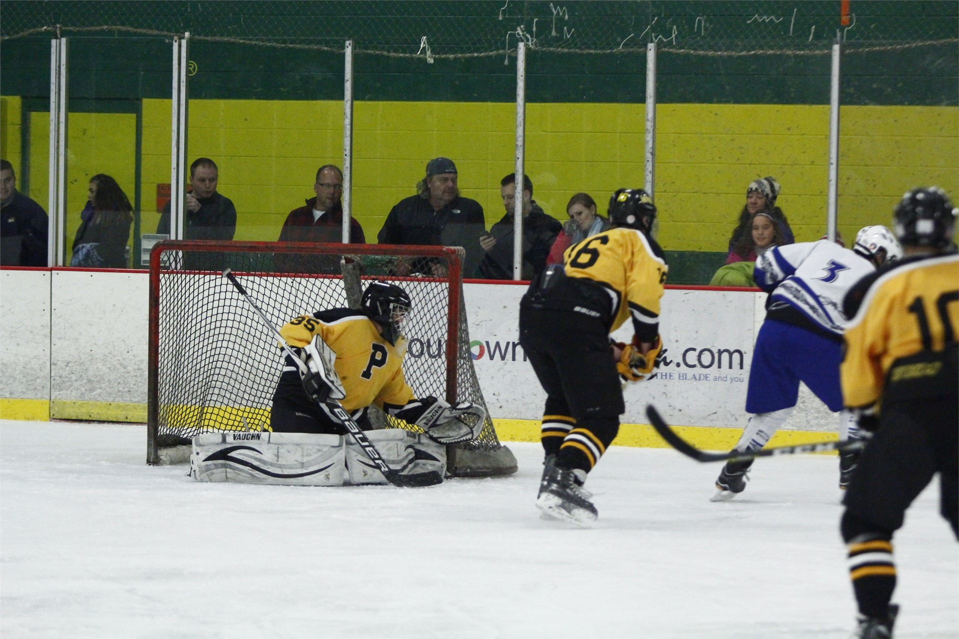 PHS student athletes playing hockey
