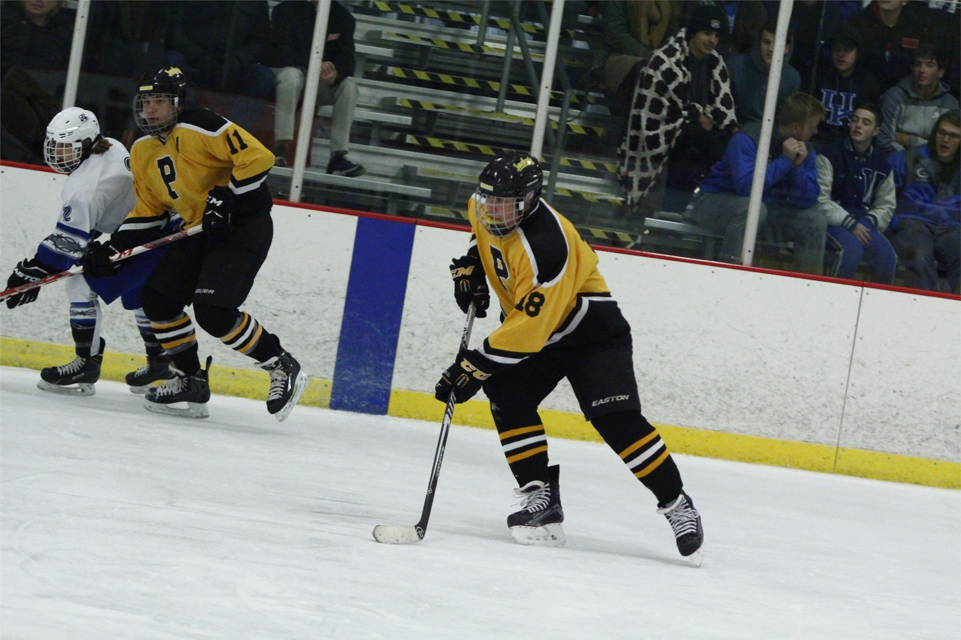 PHS student athlete handling a puck