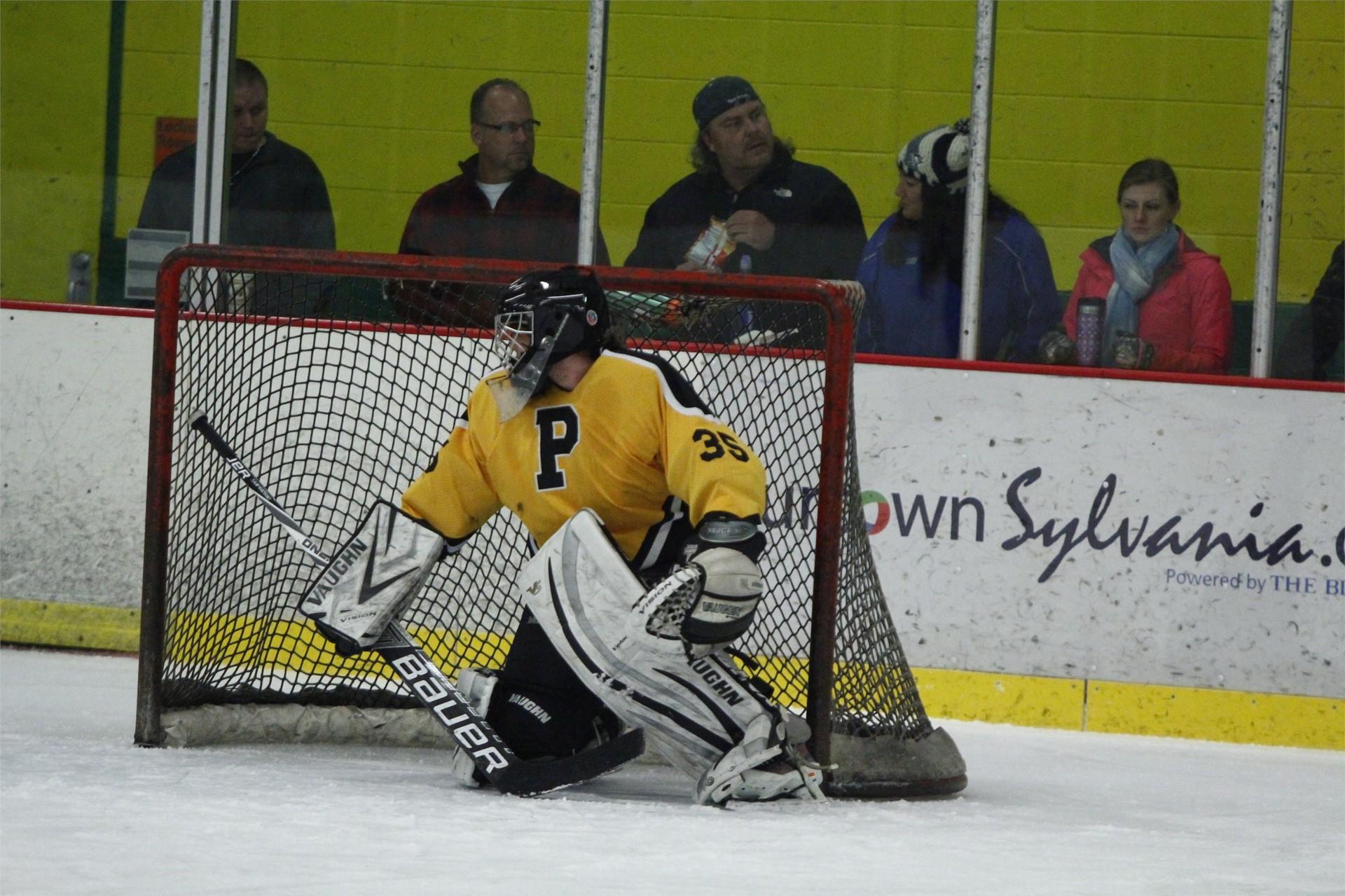PHS student athlete playing goalie
