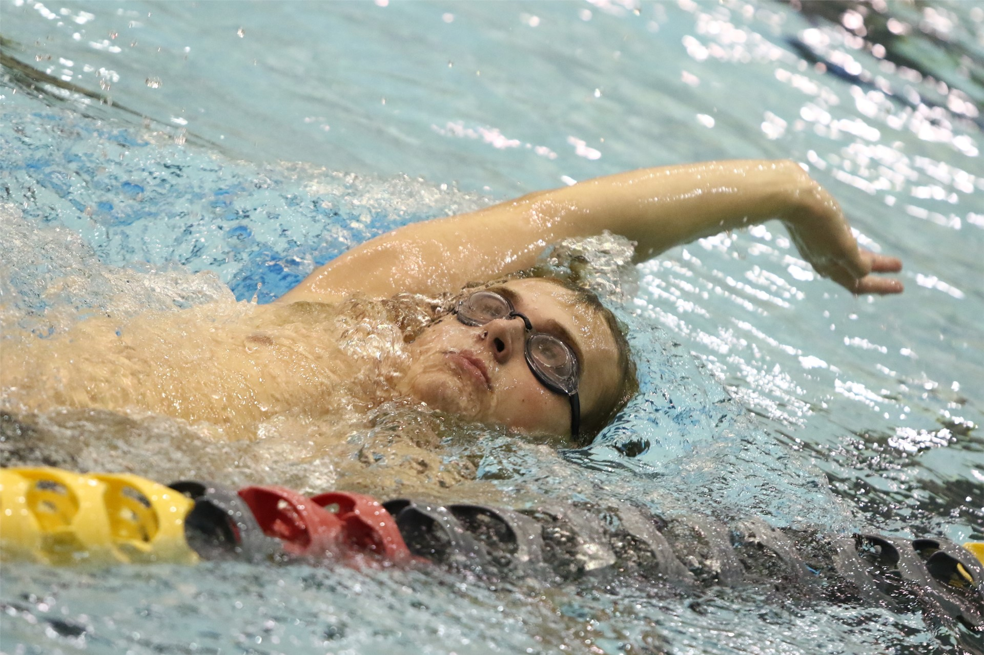 PHS student athlete swimming