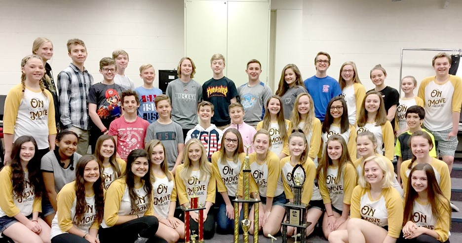 PJHS Golden Jackets Show Choir 2nd runner up at three competitions!