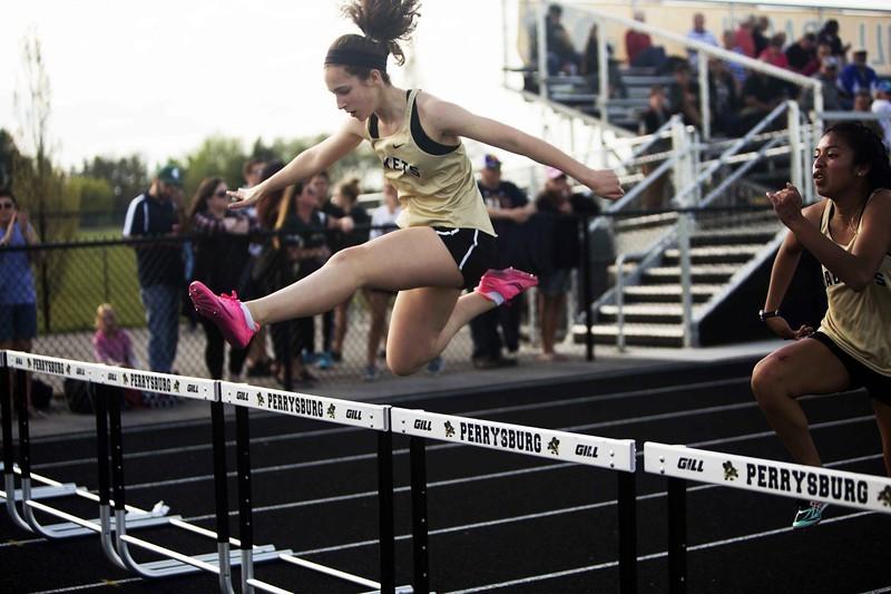 girl hurdling