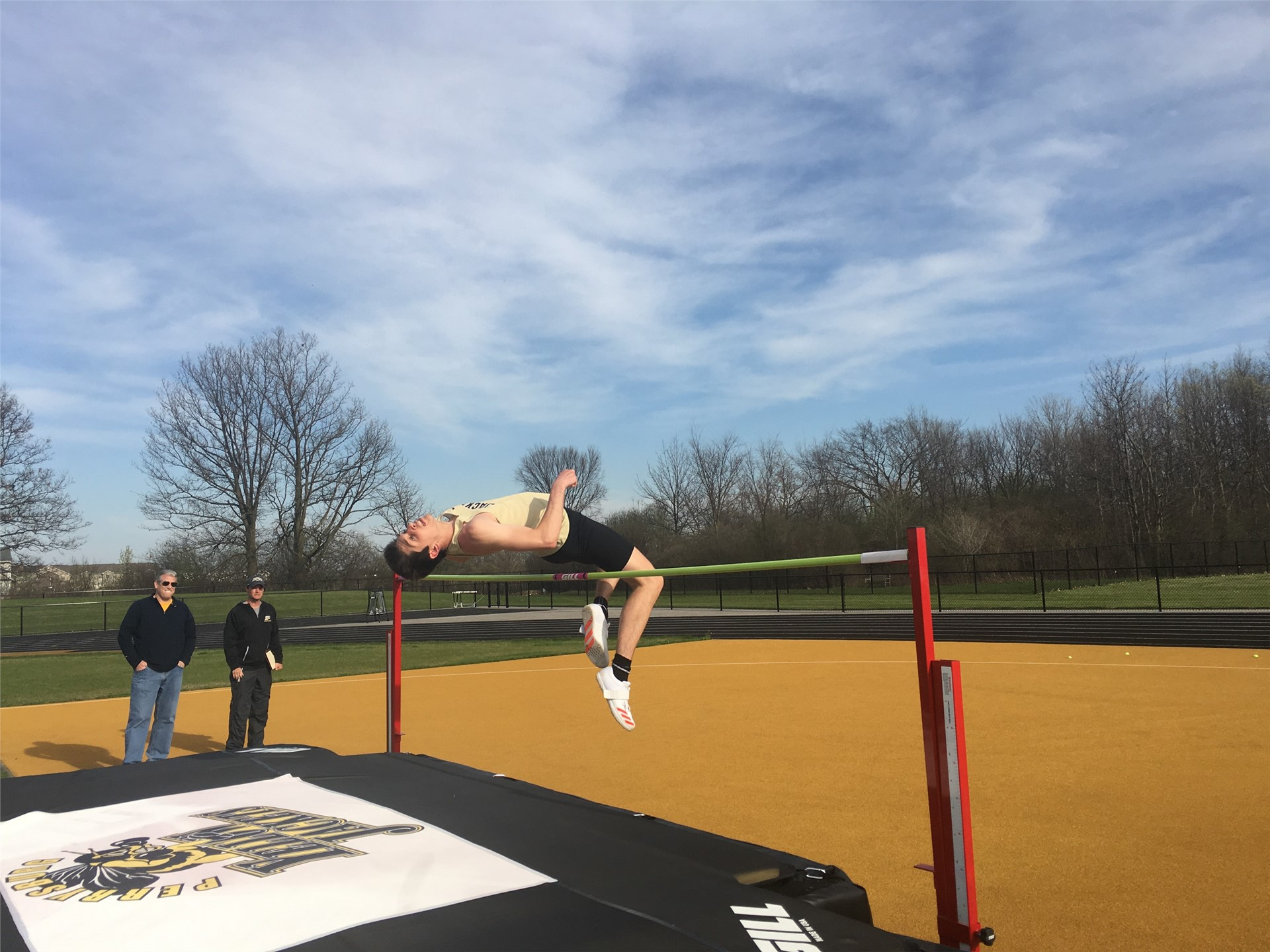 boy high jumping