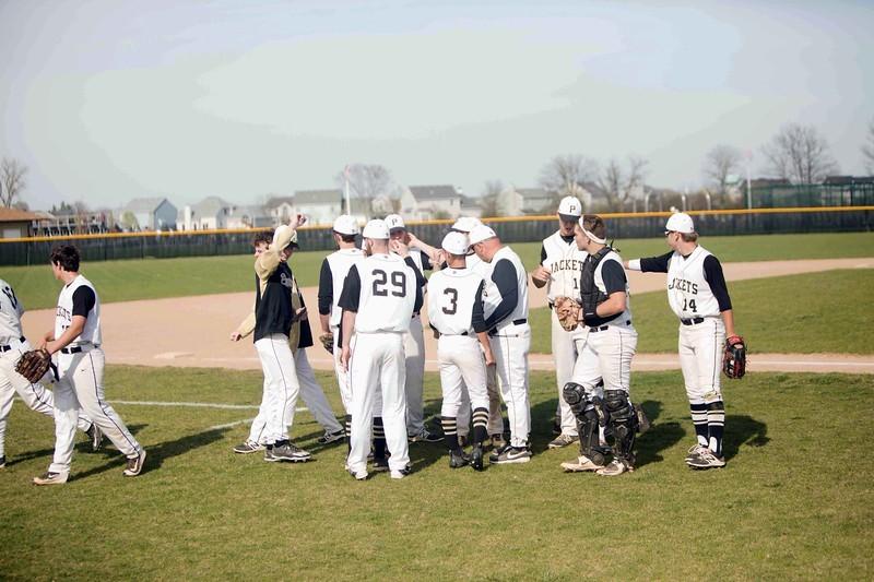 baseball team celebrating