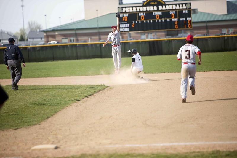Student athlete sliding