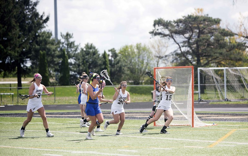 Lacrosse Player trying to score
