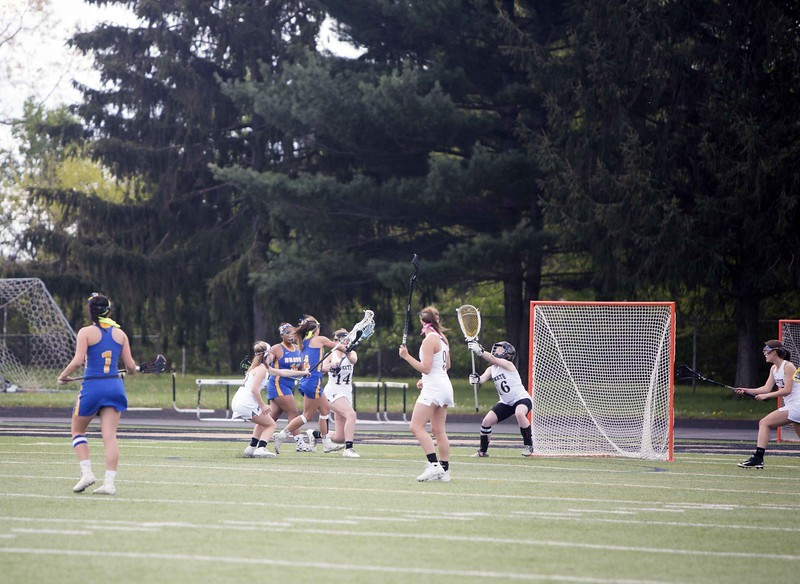 Lacrosse Player playing goalie