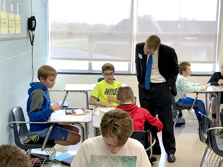 Community member visits PJHS Math class
