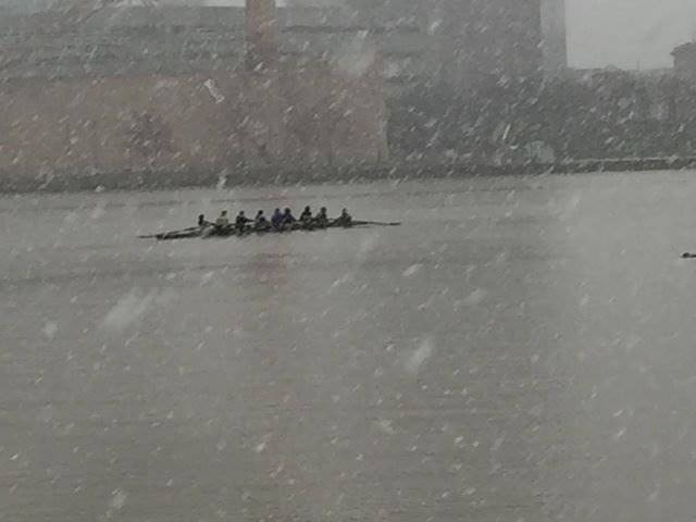 PHS Rowing Team Competing in the snow