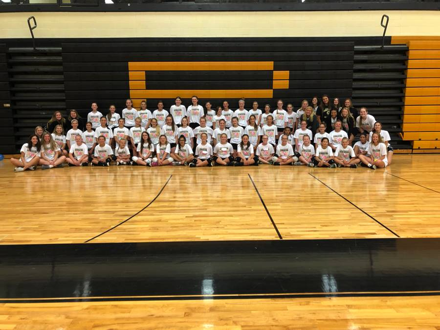 7th & 8th Graders  at PHS VB Camp 2018!