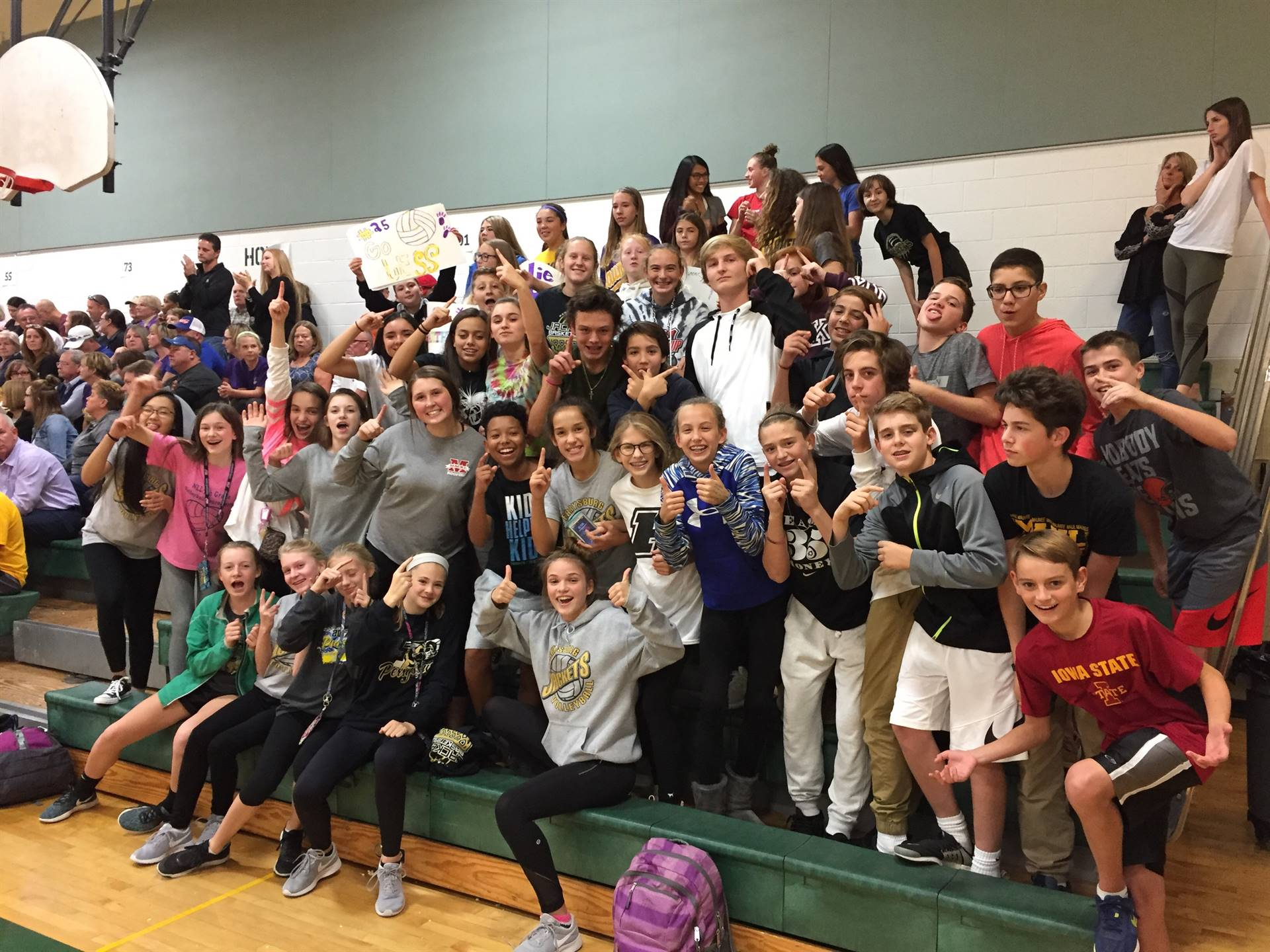 PJHS students pack the house at the 8th grade NLL Volleyball Championship!