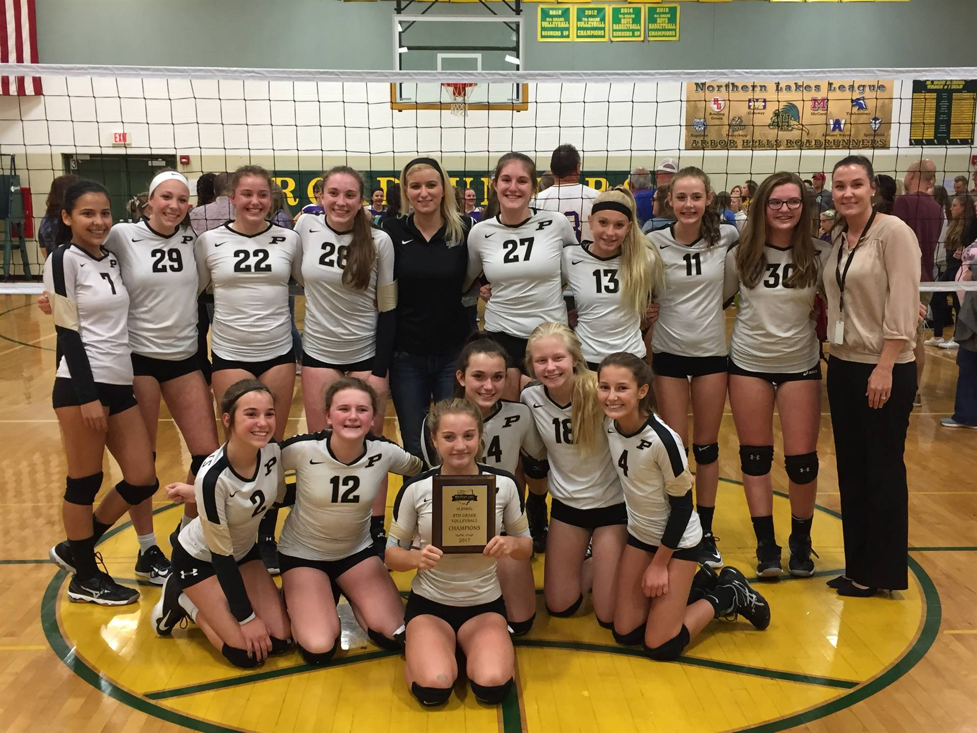 The 8th Grade PJHS Volleyball were 2017 NLL Champions!