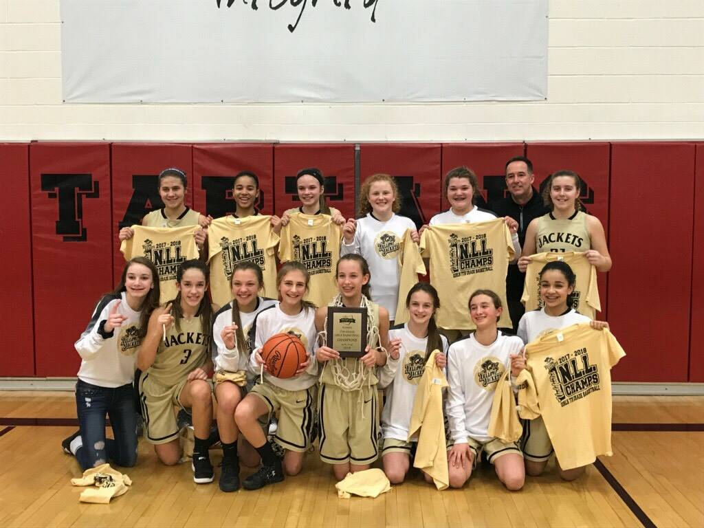 The 7th Grade Girls Basketball team were NLL Champions!