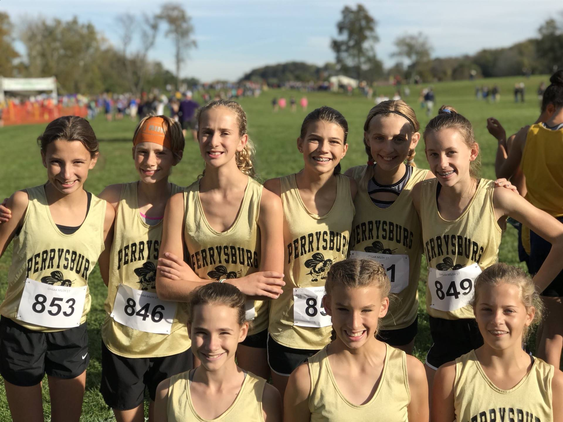 The PJHS Girls Cross Country team competed at the 2017 Junior High State Cross Country Meet in Lanca