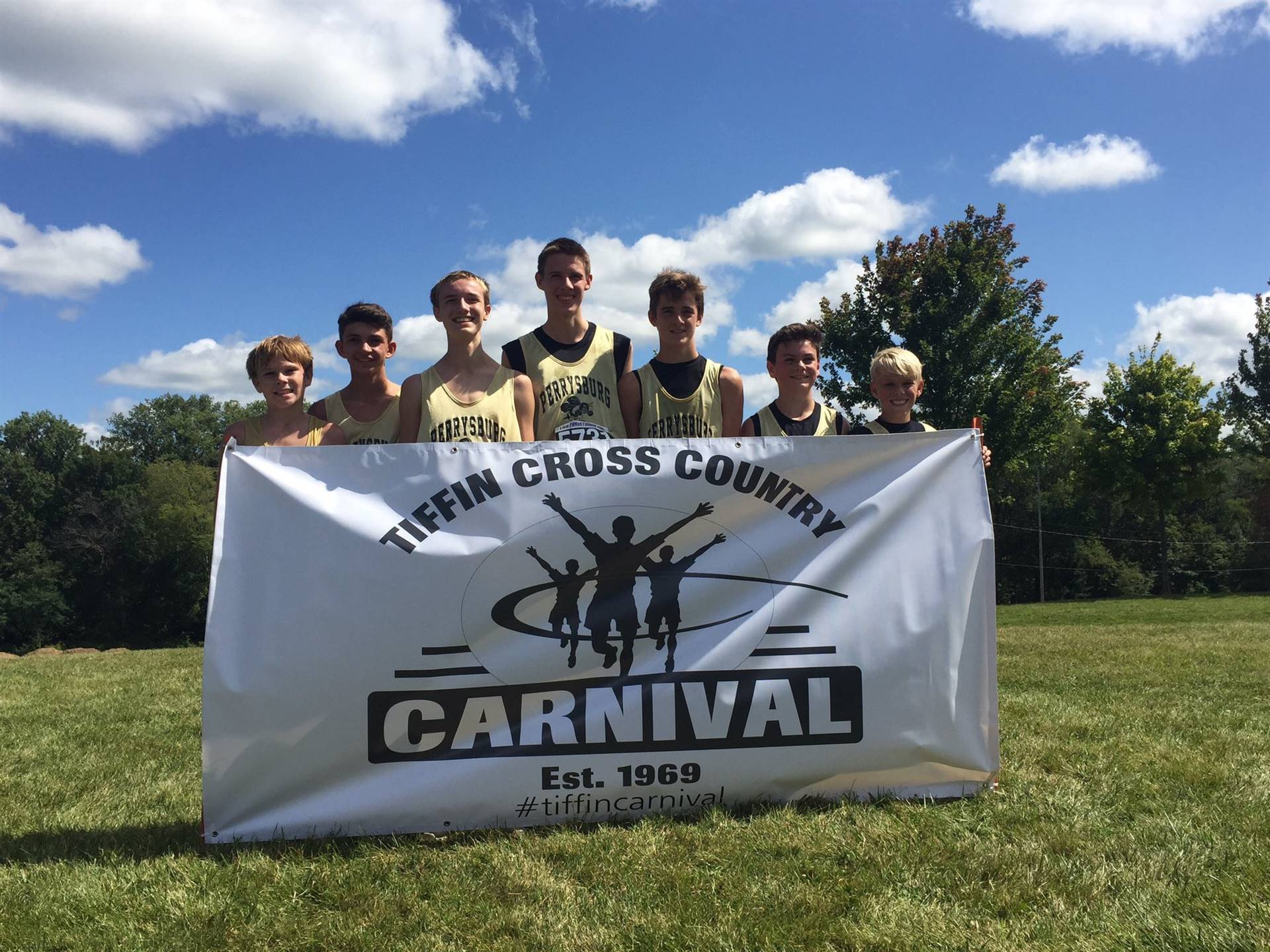The PJHS Boys Cross Country team competed in the Tiffin Carnival.