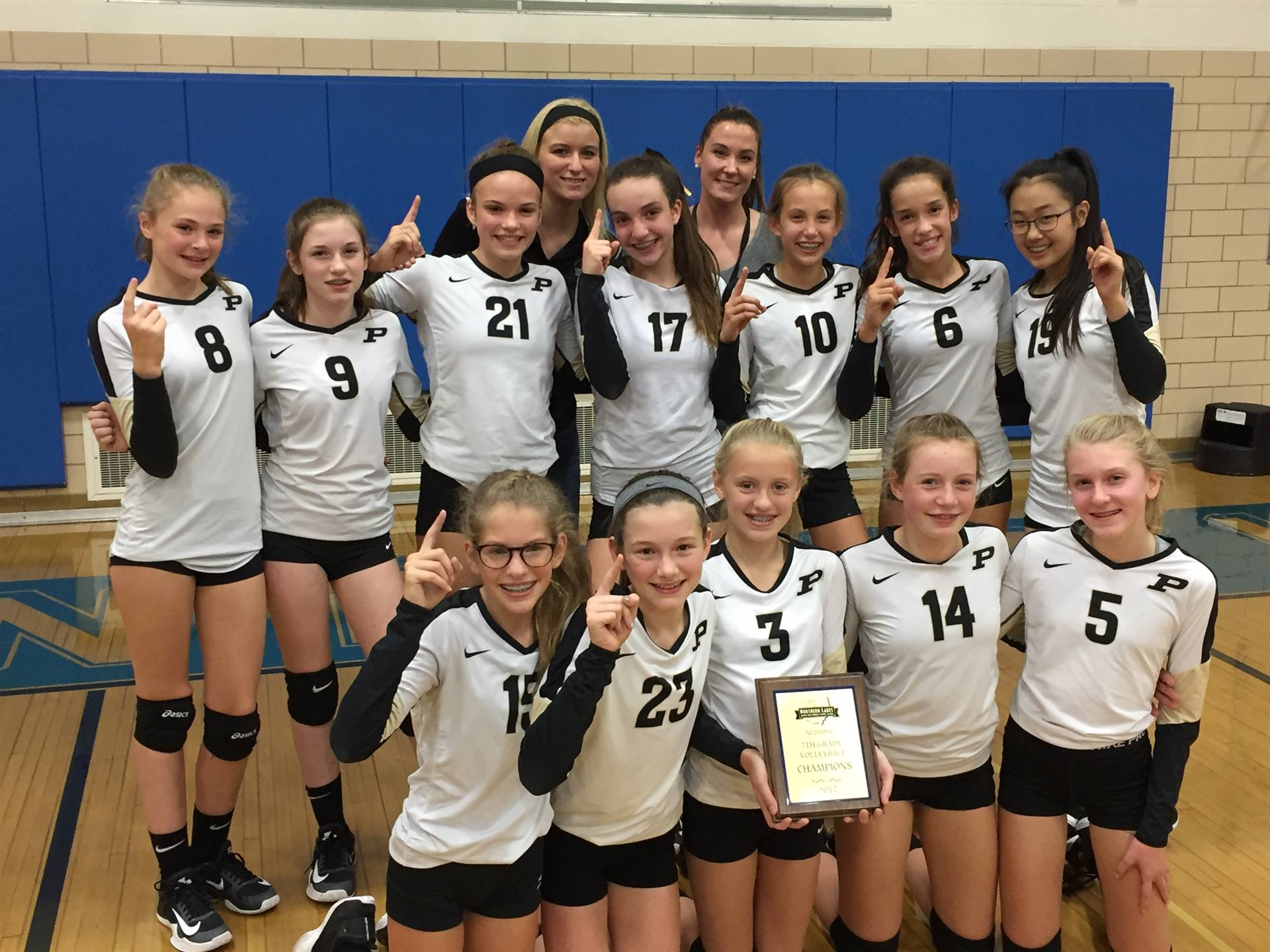 The 7th Grade PJHS Volleyball team were NLL Champions!