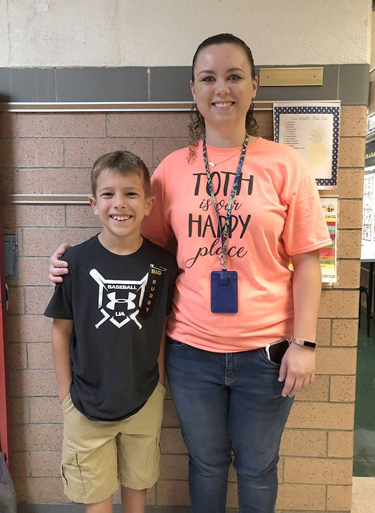 First day of school with student