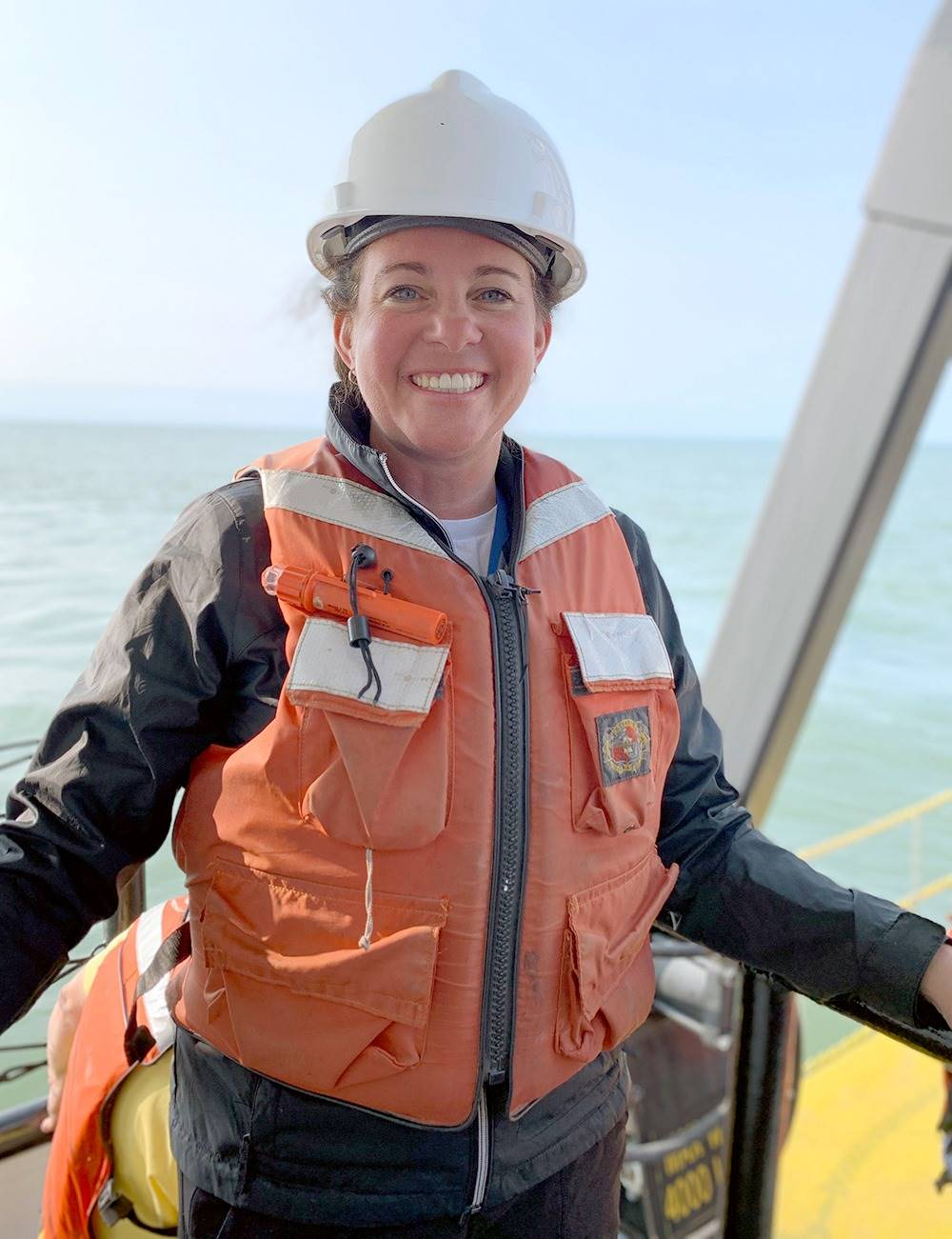 Mrs. Boros spent the summer conducting research on Lake Erie.