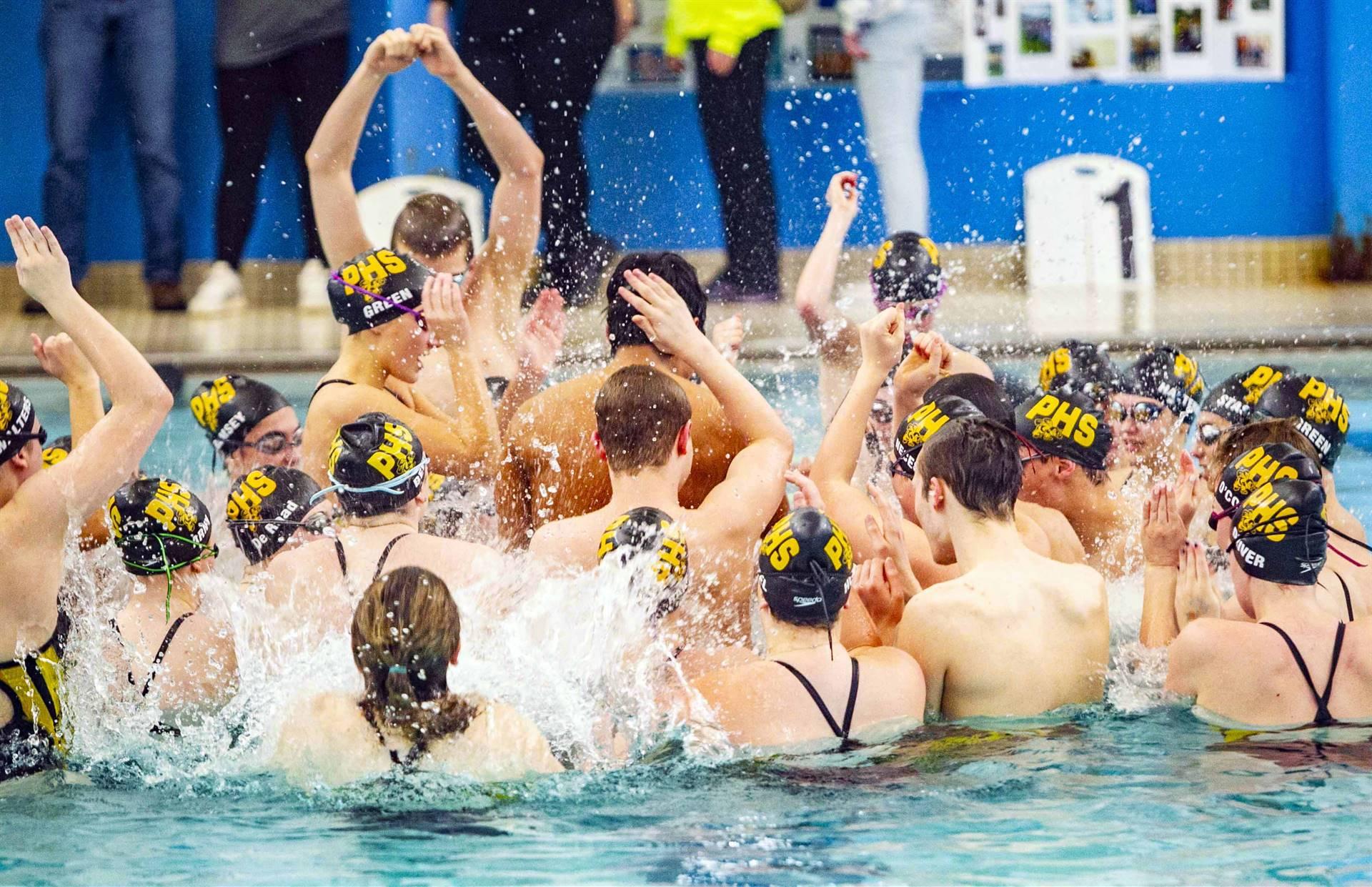 PHS athletes pregame excitement