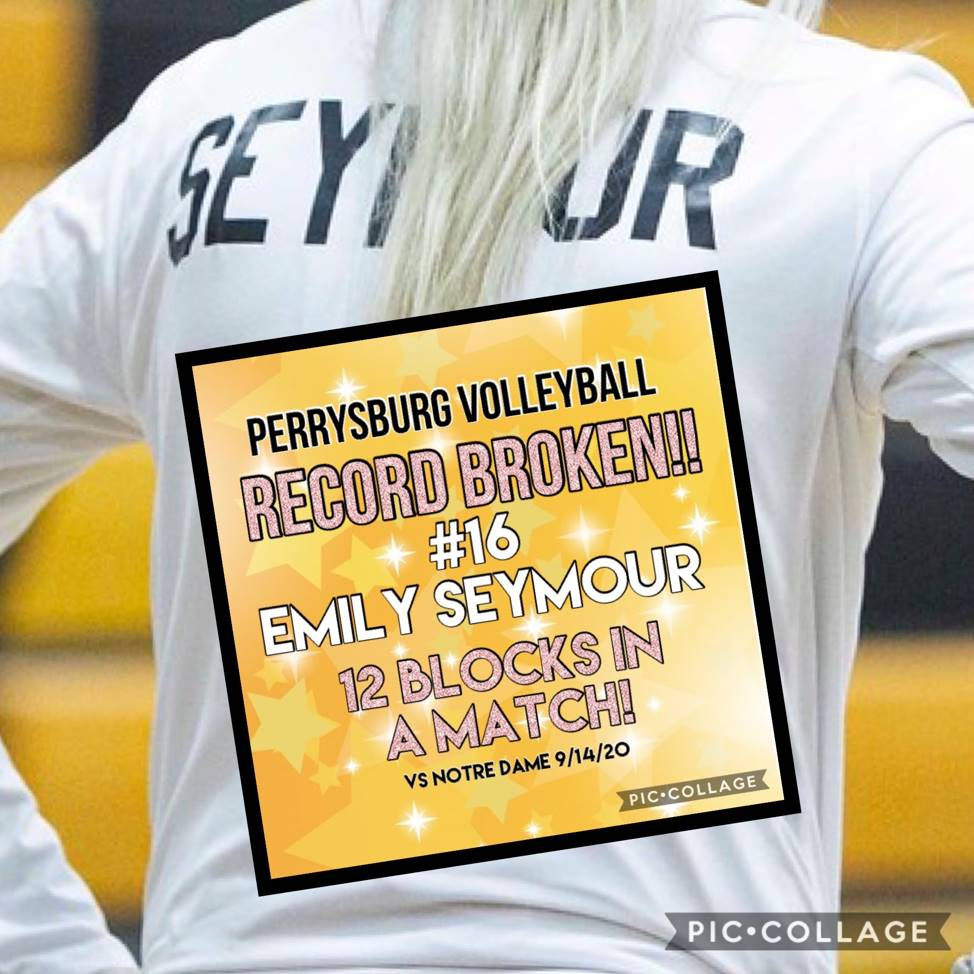 Emily Seymour broke the blocks in a match record with 12