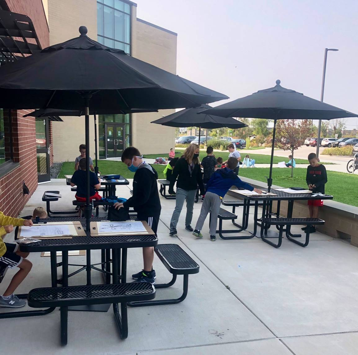 Art Students on the Patio