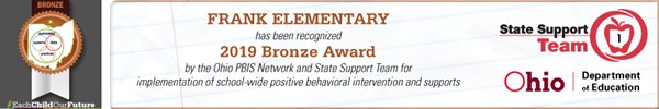 2019 PBIS Bronze Award Banner